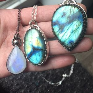 Jewelry - Sterling silver Pendants labradorite and moonstone